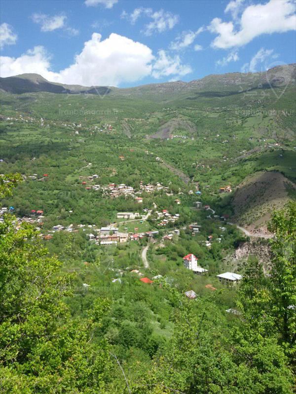 نمای دل انگیز از روستای جنت رودبار