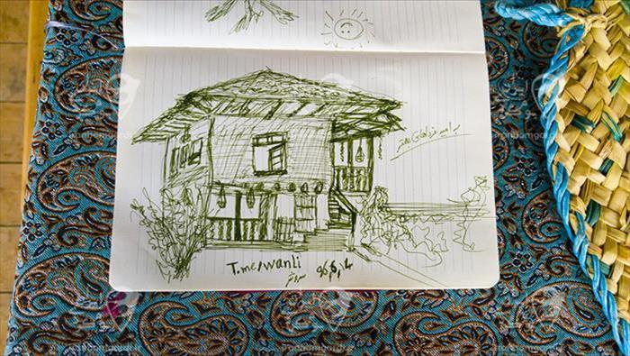 نقاشی از خونه مادر جون