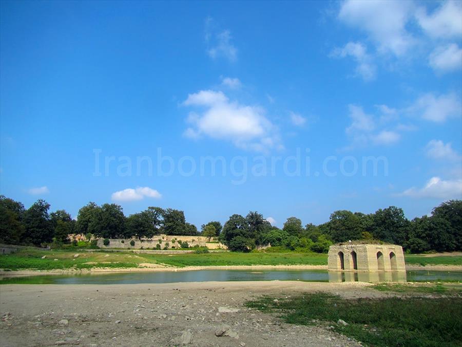 نمای کلی باغ عباس آباد بهشهر